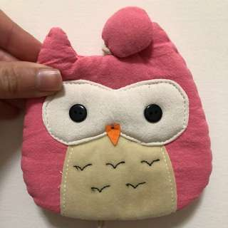 🚚 鑰匙套 貓頭鷹 粉紅 可愛 交換禮物