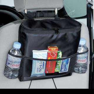 Multifunction organiser for back can seat