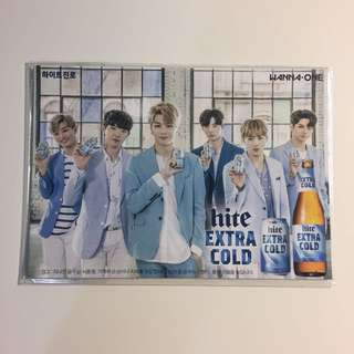 WANNA ONE hite group postcard