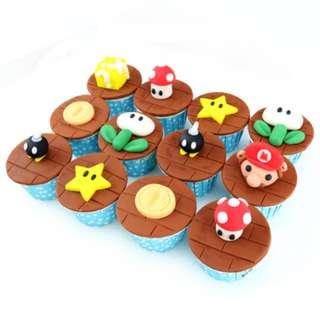 Homemade Exclusive Designed Super Mario Cupcake !!