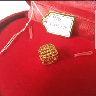 916 Gold Pendant good luck abacus
