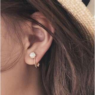 Pazzo 法式珍珠夾式耳環