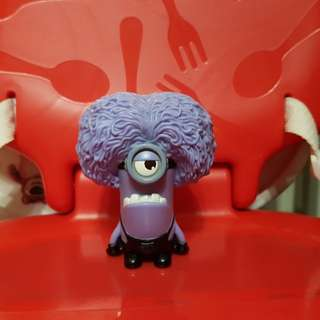 RARE Despicable Me 2 - Purple Minion Babbler - McDonald's McFo Happy Meal