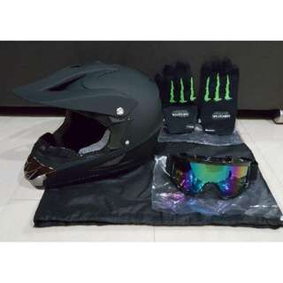 Plain Black Matte Full Face Helmet (Restock)