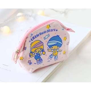 Littletwinstar 粉紅色棉質拉連包