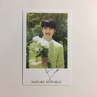 EXO nature republic photocard D.O