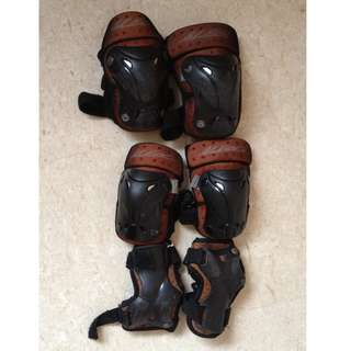 Roller Blading's Protection Pads - Knee Pad, Wrist Guard, Elbow Guard Set For children