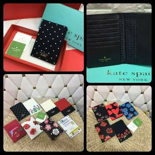 Kate Spade Passport Holder with box and card