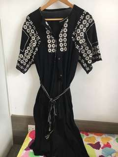 Child woman 刺繡 連身裙 外套