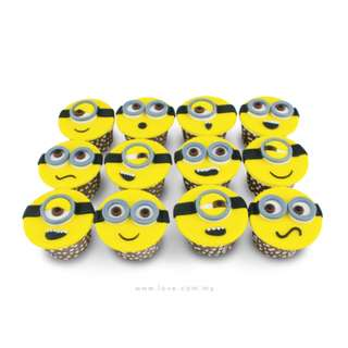 Homemade Exclusive Designed Minions Cupcake !!
