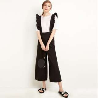 [PO] water every sunday Emely Ruffle Suspender Jumpsuit Pants