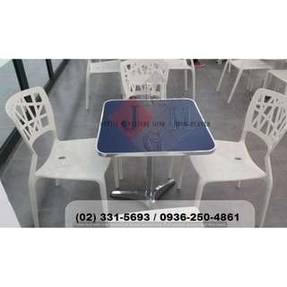 Aluminum Table-Stack.able Chairs ( Office Partition )