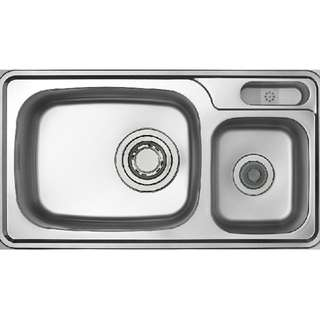 LIZENS Korea double bowl kitchen sink with Jumbo waster kit