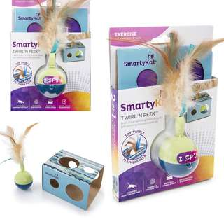 BN SmartyKat Twirl 'n Peek Electronic Motion Cat Toy