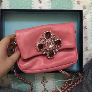 😆FREE SHIPPING* under 500g😆Selling Authentic Juicy Couture Pink Leather Purse
