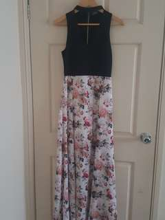 Floral dress by temt. Size 8
