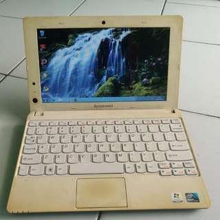 Notebook lenovo s100-3 Putih tulang mulus Batre Awet segel