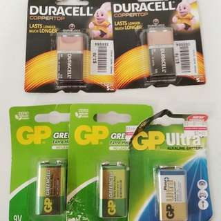 (new) Duracell and GP batteries