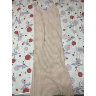 針織性感長裙(後有小開叉)