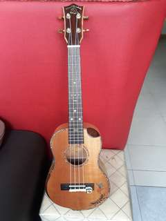 Tenor uku full solid body mahagony with hard case