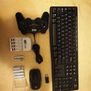 Wireless Keyboard And Mouse,gamepad,powerbank