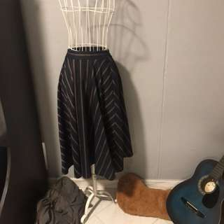 Striped 3/4 skirt