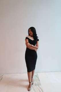 white black span dress