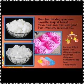DIY soap making set (Rose Mould)