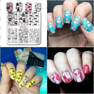 BORN PRETTY Cat Nail Art Image Stamping Plate no x51