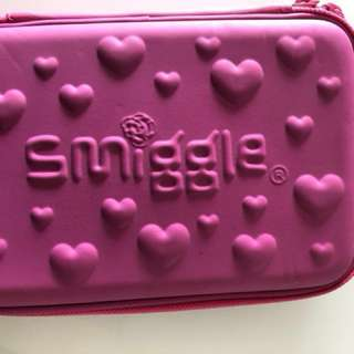 Pink and purple smiggle pencil case