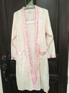 Pastel pink Pajamas with outerwear