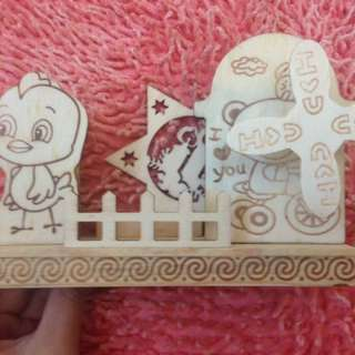 Music box wooden deco/gift