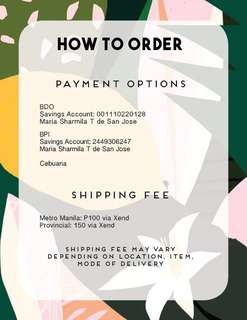 Payment and Shipping Details
