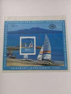 全新1990年新西蘭國際帆船赛小全張