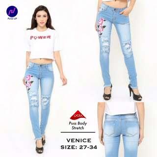 Puss up venice jeans ukuran 27-30