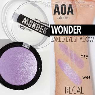 Regal . Royal Purple Shimmer Wonder Baked Eyeshadow Vegan US Drugstore Cruelty-free Cosmetic Makeup Aoa Studio