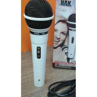 NAKATA NK 137 mic mik microphone mikrofon kabel