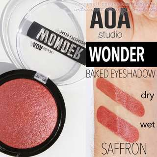 Saffron . Wonder Baked Eyeshadow Vegan US Drugstore Cruelty-free Cosmetic Makeup Aoa Studio