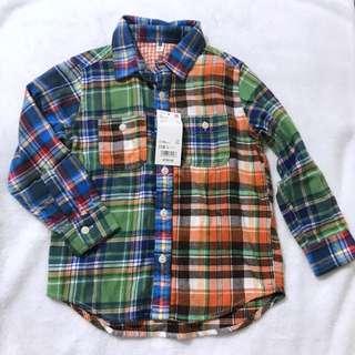 Uniqlo男女童裝法蘭絨格子長袖襯衫上衣