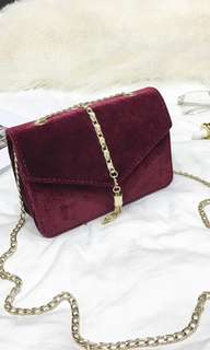 Red Sling Chain Bag