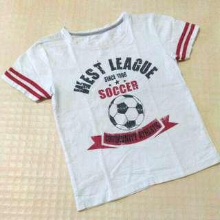 Kaos putih tulang west league