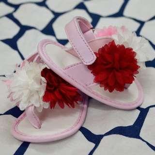 Pink Floral Sandals