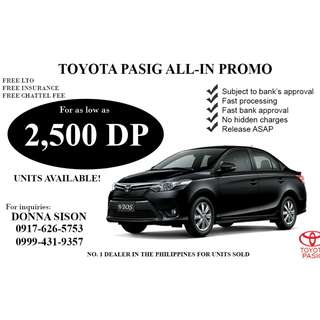 TOYOTA VIOS FOR 2,500 DP