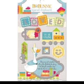 Bobunny toybox layered chipboard