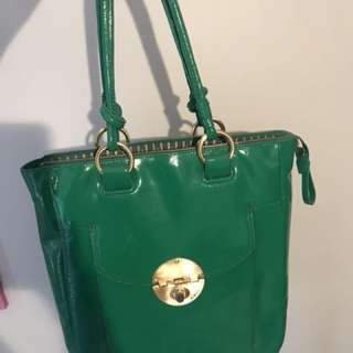 Mimco emerald green bag