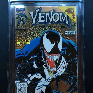 Venom lethal protector 1 gold foil comic cgc 9.2