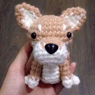 Crochet Shiba / Amigurumi doll