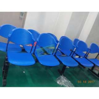 5 SEATER PVC GANG CHAIRS - BLUE COLOR--KHOMI