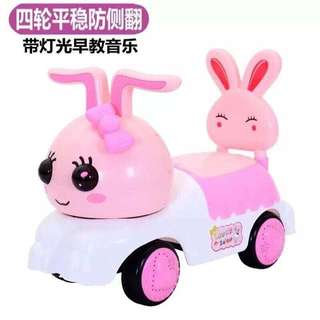 Lovely Rabbit Pink Ride On Car