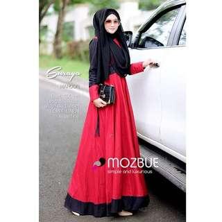 BL - 0218 - Dress Busana Muslim Wanita Suraya Maxi